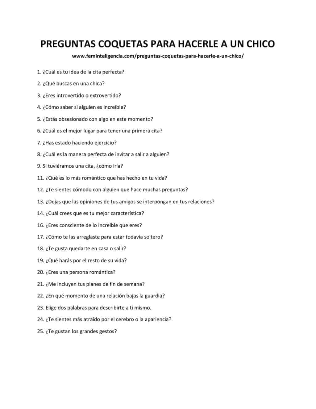 127 Preguntas Coquetas Para Hacerle A Un Chico La Lista Que Necesitaras