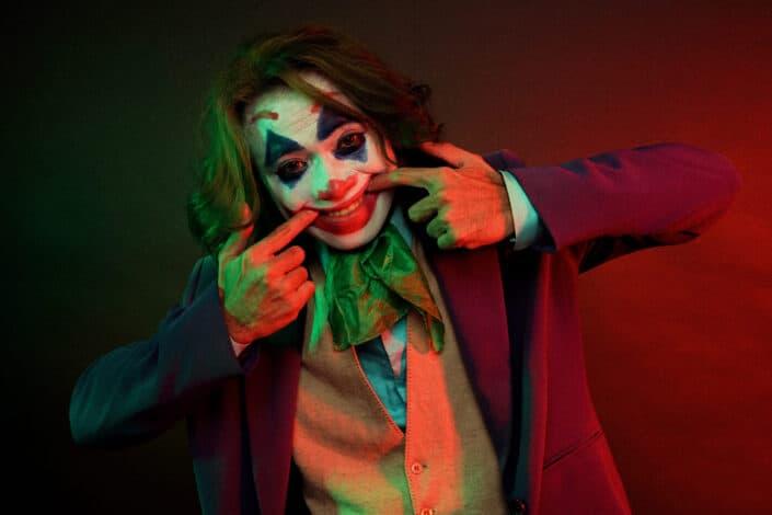 un disfraz de Joker imitación